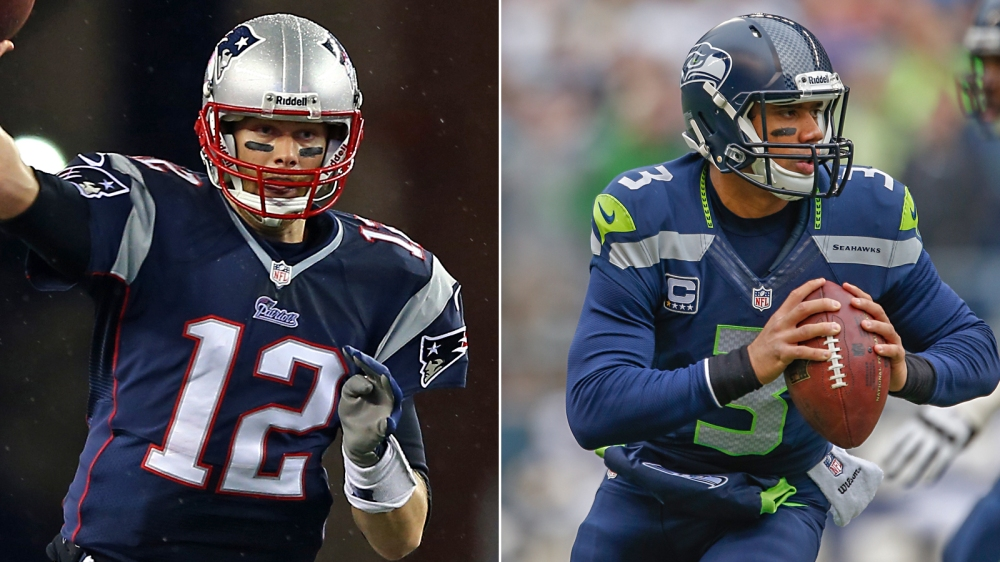 One makes $14 million a year, the other hasn't reached a seventh digit. The differences hardly end there between Tom Brady and Russell Wilson.